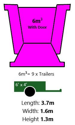 6mtr with door